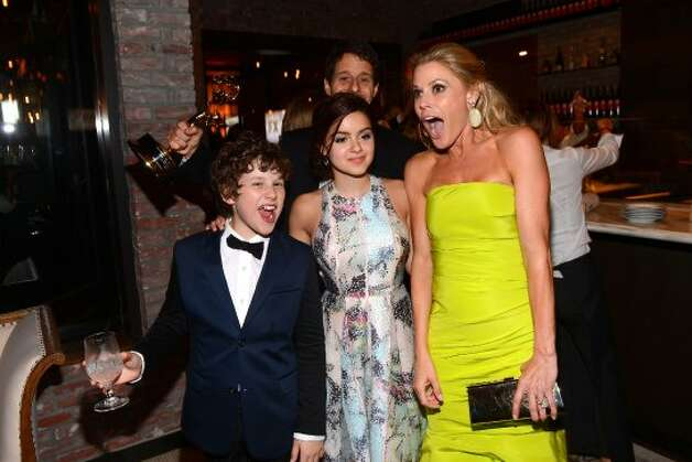 (L-R)  Nolan Gould, Ariel Winter and Julie Bowen attend FOX Broadcasting Company, Twentieth Century FOX Television and FX post Emmy party at Soleto on September 23, 2012 in Los Angeles, California.   (Mark Davis / Getty Images for FOX)