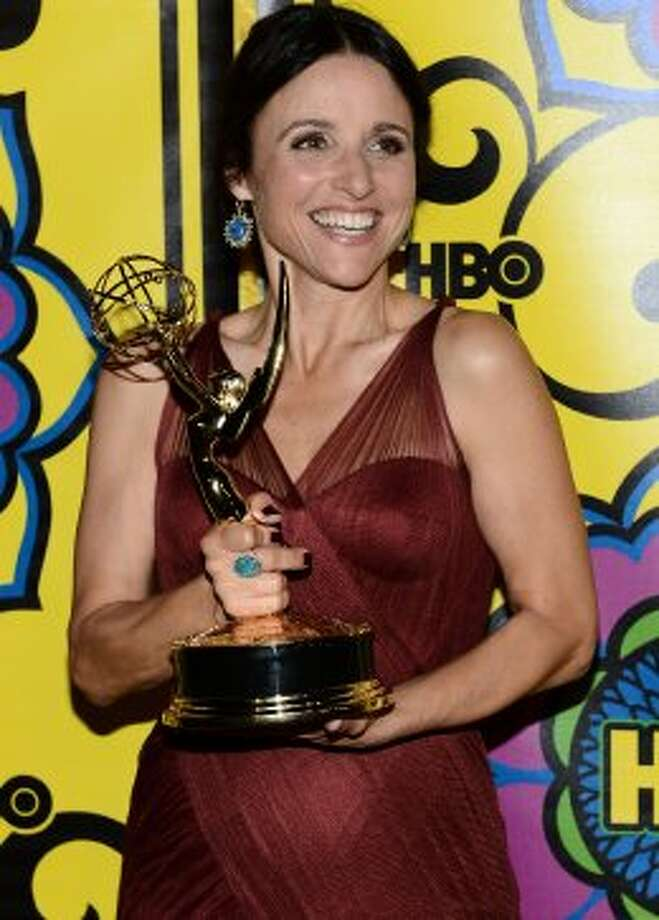 Actress Julia Louis-Dreyfus arrives at HBO's Annual Emmy Awards Post Awards Reception at the Pacific Design Center on September 23, 2012 in West Hollywood, California.  (Michael Buckner / Getty Images)