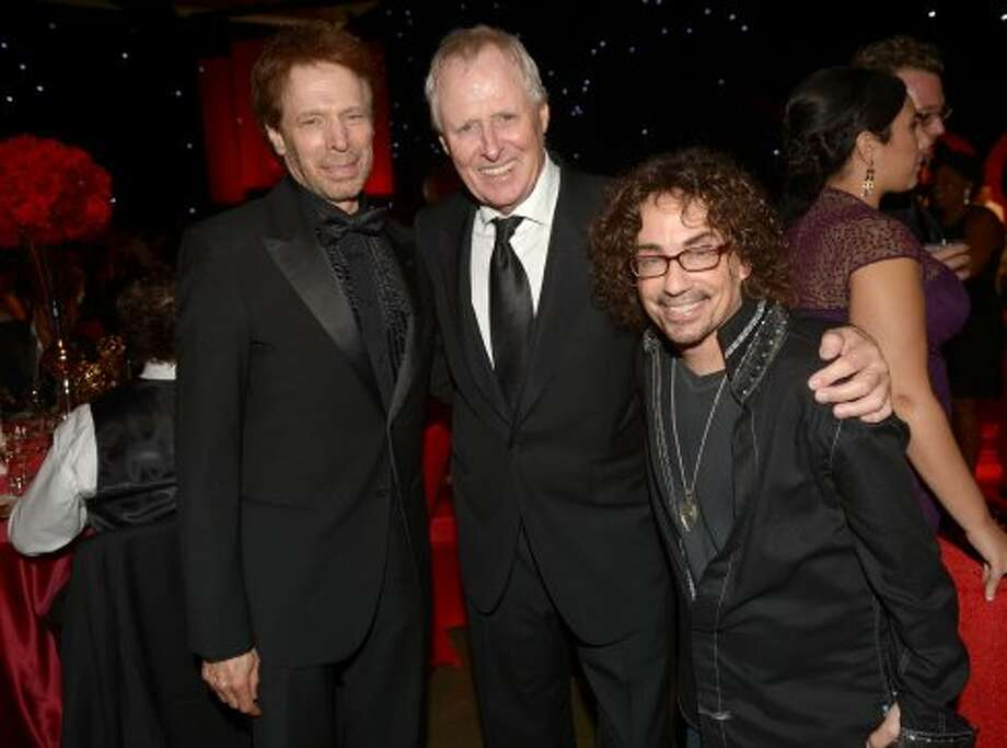 Jerry Bruckheimer, Bertram van Munster and Michael Parnell, Fox Alternative Programming, attend the 64th Annual Primetime Emmy Awards Governors Ball at Nokia Theatre L.A. Live on September 23, 2012 in Los Angeles, California.  (Kevin Winter / Getty Images)