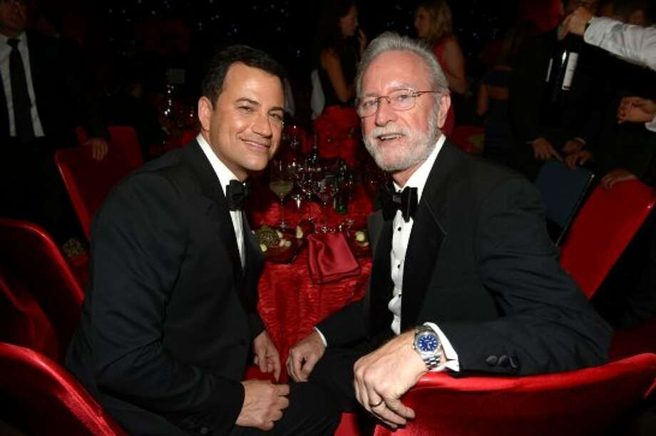 Host Jimmy Kimmel and Joe Kimmel attend the 64th Annual Primetime Emmy Awards Governors Ball at Nokia Theatre L.A. Live on September 23, 2012 in Los Angeles, California.   (Kevin Winter / Getty Images)