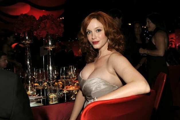 Christina Hendricks poses for a photo at the 64th Primetime Emmy Awards Governors Ball on Sunday, Sept. 23, 2012, in Los Angeles.  (Chris Pizzello / Associated Press)