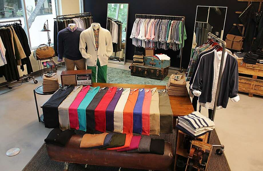 Online menswear retailer Bonobos opens its first West Coast Guideshop showroom in Palo Alto. Photo: Bonobos