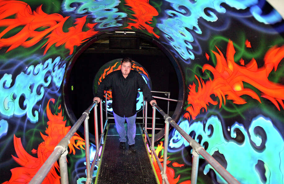 Gordon Wise stands in the Vommo-Ramma tunnel at the Nightmare on Grayson. on Oct. 24, 2007.