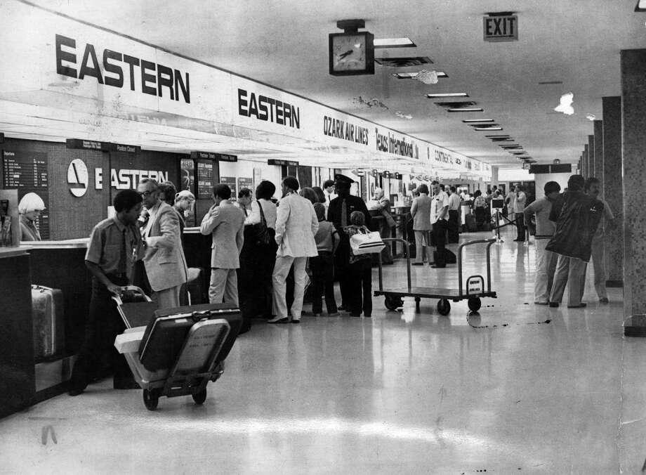 Ticket counters at San Antonio International Airport. 1981 San Antonio Express-News file photo Photo: San Antonio Express-News
