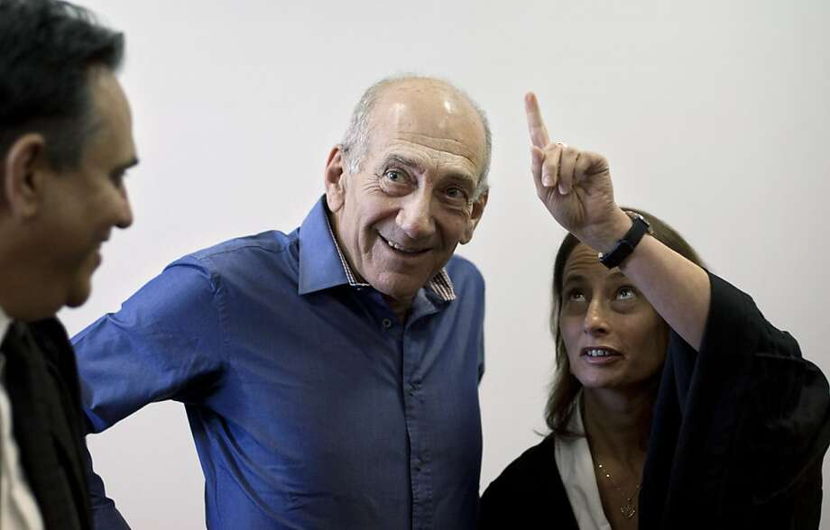 Ehud Olmert, who was forced from office, was given a fine and suspended sentence. Photo: Pool, Getty Images
