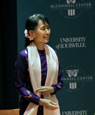 Nobel Peace Prize recipient Aung San Suu Kyi represents the kind of real leadership lacking in the world today.  Photo: Scott Utterback, The Courier-Journal / Louisville