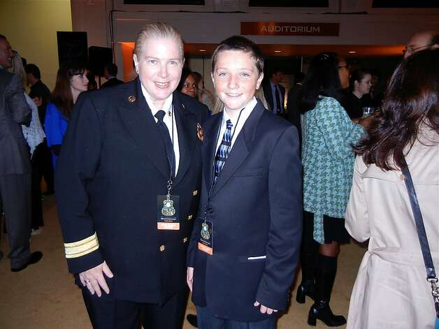 San Francisco Fire Department Chief Joanne Hayes-White and her son, Sean White. Photo: Catherine Bigelow, Special To The Chronicle