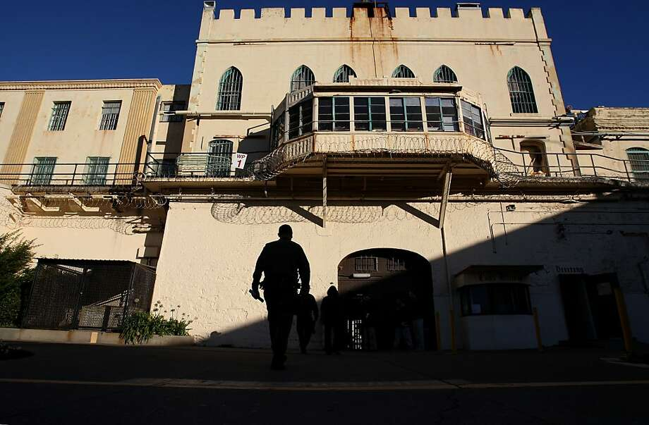 The main entrance into San Quentin State Prison as seen from the interior courtyard. Photo: Michael Macor, The Chronicle
