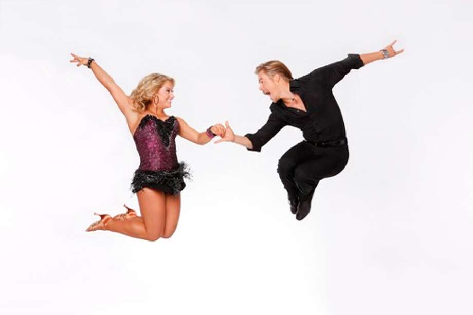 Shawn Johnson and Derek Hough.