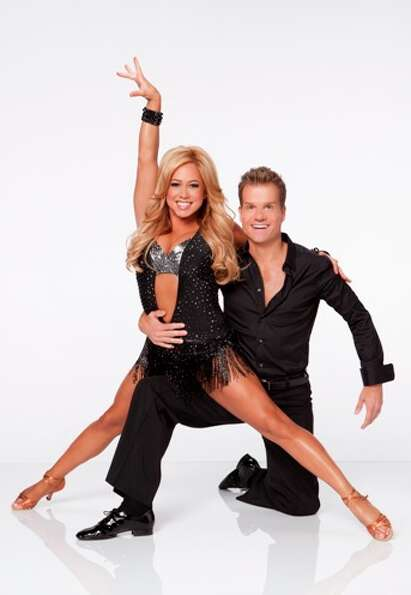 Sabrina Bryan and Louis van Amstel.