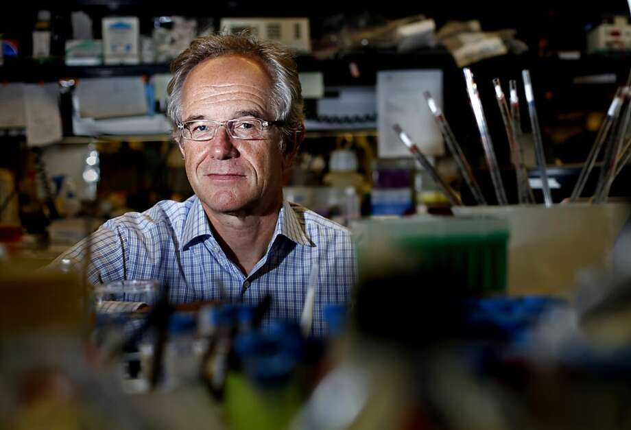 """Dr. Eric Verdin of the Gladstone Institutes says HIV may serve """"as a model system for what we know about aging."""" Photo: Sarah Rice, Special To The Chronicle"""