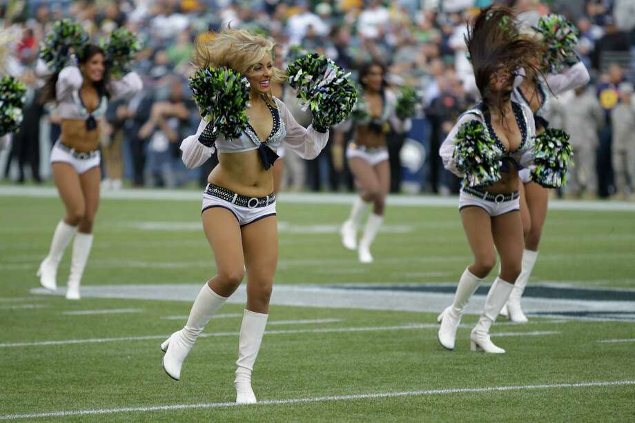 The Seattle Seahawks cheerleaders the Sea Gals perform before the Green Bay Packers and Seattle Seahawks NFL football game, Monday, Sept. 24, 2012, in Seattle. Photo: AP