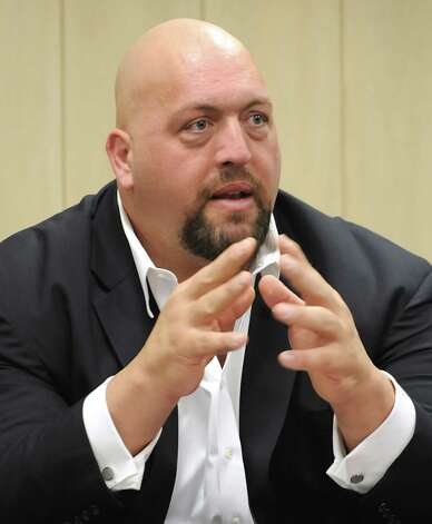The Big Show, a WWE pro wrestler, speaks to Albany High students Monday, Sept. 24, 2012 in Albany, N.Y.  (Lori Van Buren / Times Union) Photo: Lori Van Buren