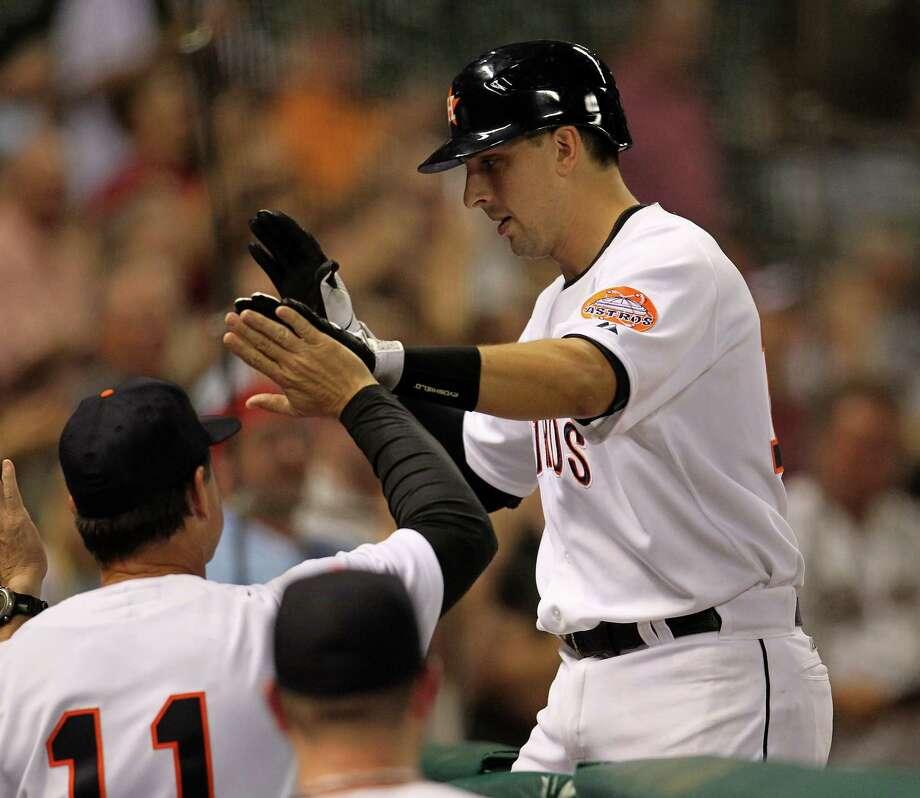 Sept. 22: Astros 4, Pirates 1Houston Astros catcher Jason Castro hit a three-run homer to extend the Astros winning streak to two games.Record: 50-102. Photo: Karen Warren, Houston Chronicle / © 2012  Houston Chronicle