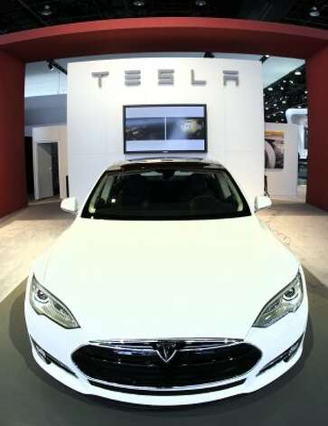 DETROIT, MI, - JANUARY 10: The Tesla Modes S Signature is shown during a media preview day at the 2012 North American International Auto Show January 10, 2012 in Detroit, Michigan. The NAIAS opens to the public January 14th and continues through January 22nd. (Photo by Bill Pugliano/Getty Images) (Bill Pugliano / Getty Images)