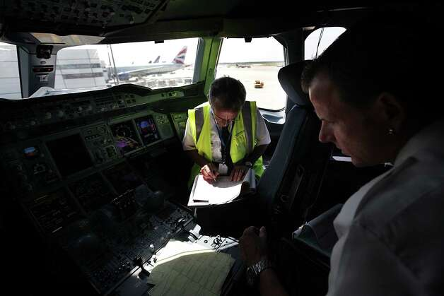 3. Aircraft pilot and flight engineers are involved in fatal workplace incidents at a rate of 57 per 100,000 full-time workers.  Photo: Mayra Beltran, DM / © 2012 Houston Chronicle