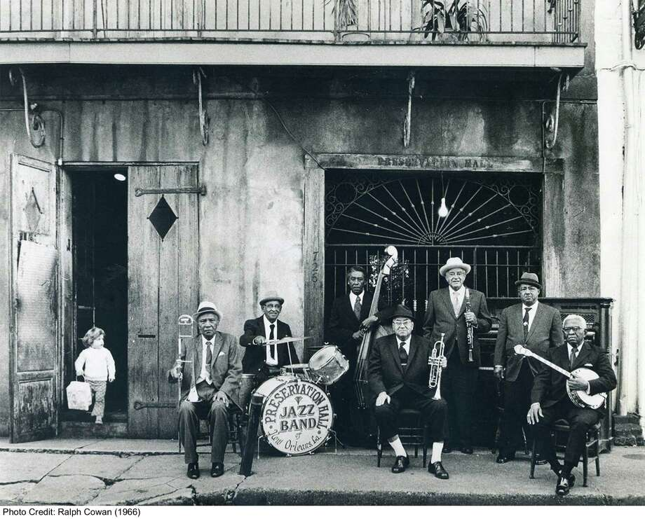 The Preservation Hall Jazz Band, seen here in a photo from 1966, is celebrating its 50th anniversary with best-of and live CD releases. Photo: Courtesy Ralph Cowen