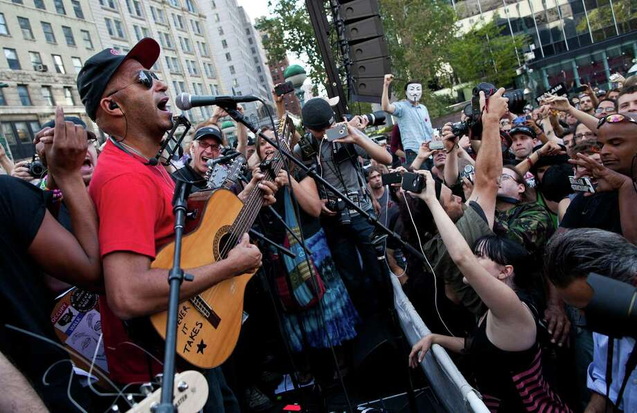 Tom Morello occupied Wall Street and raged against the machine. Photo: Andrew Burton, Andrew Burton/Getty Images / 2012 Getty Images
