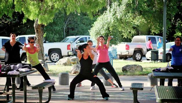 A zumba class in McAllister Park is part of the City of San Antonio's Fitness in the Park program. Photo: Courtesy San Antonio Parks And R