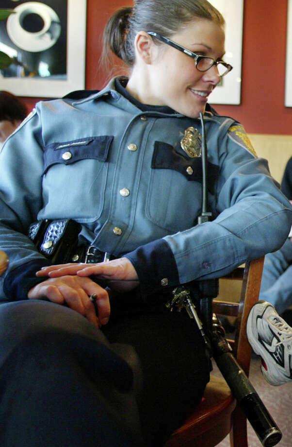 Seattle Police Officer Daina Boggs at a West Seattle Starbucks in Jan. 2003. Boggs was involved in the fatal shooting of a man who police say pointed a gun at officer Sept. 23, 2012, in South Seattle. Photo: Meryl Schenker/seattlepi.com File