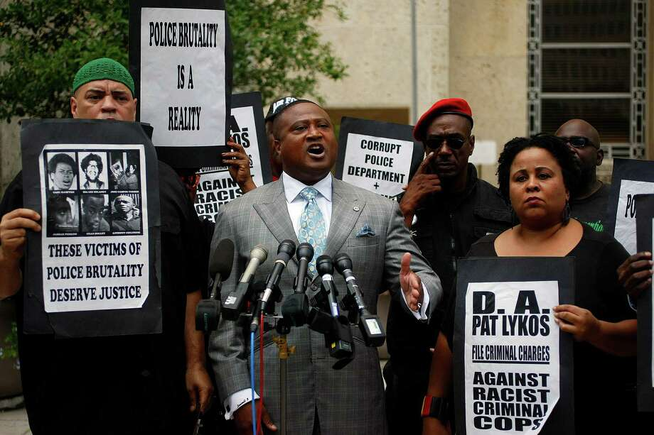 You just might see a protest from activist Quanell X. Photo: Johnny Hanson, Houston Chronicle / © 2012  Houston Chronicle