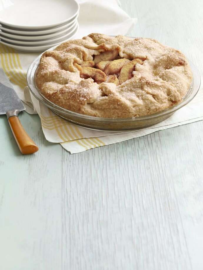 Country Living recipe for Peach-Almond Galette. Photo: Kana Okada