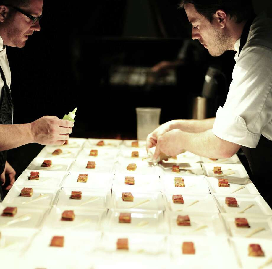 "The Triniti kitchen staff created dishes served during ""An Autumn concerto in Eight Courses."" Photo: Deobra Smail"