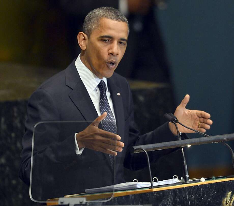 At the U.N. General Assembly in New York, President Obama pledged to hunt those behind the attack in Libya that killed the U.S. ambassador. Photo: Timothy A. Clary, AFP/Getty Images