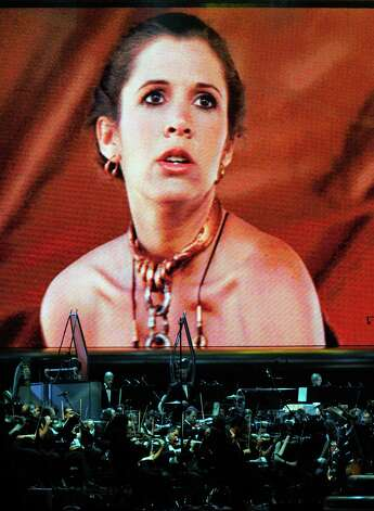 "Here's Carrie Fisher portraying Princess Leia Organa in ""Star Wars: Episode VI -- Return of the Jedi."" Photo: Ethan Miller, Getty Images / 2010 Getty Images"