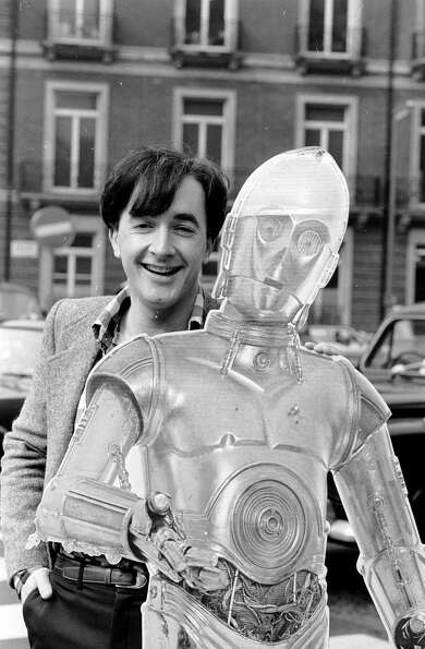 The original C-3PO was actor Anthony Daniels, shown here on April 7, 1981.