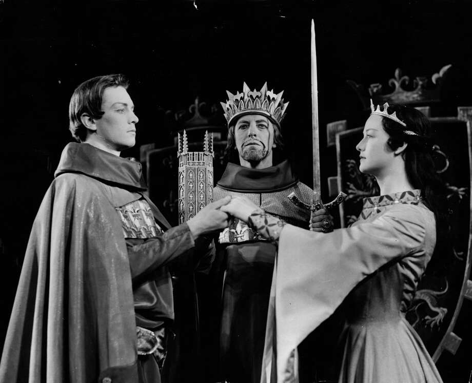 "The first  Emperor Palpatine, in ""The Empire Strikes Back"" was actor Clive Revill, albeit just as a voice. Here's Revill, center, in an April 17, 1957 production of in Shakespeare's ""King John"" at Stratford-on-Avon, England. Photo: Central Press, Getty Images / Hulton Archive"