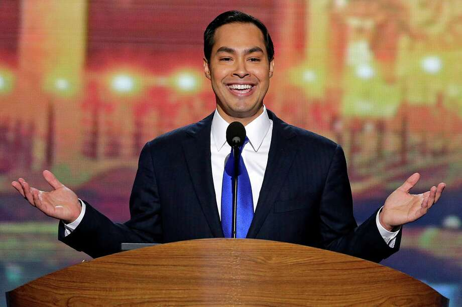 San Antonio Mayor Julian Castro addresses the Democratic National Convention in Charlotte, N.C., on Tuesday, Sept. 4, 2012. (AP Photo/J. Scott Applewhite) Photo: J. Scott Applewhite, Associated Press / AP