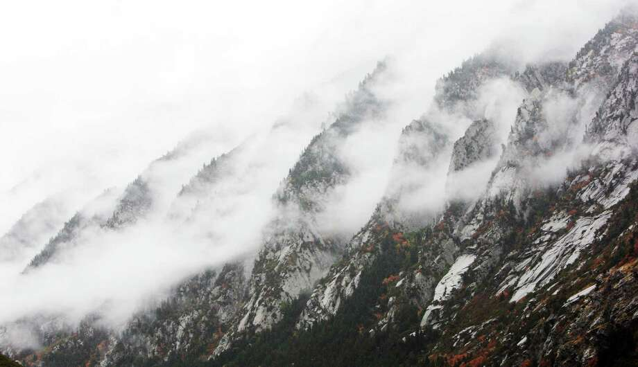 Clouds blanket Little Cottonwood Canyon in the snow and rain Tuesday, Sept. 25, 2012, near Sandy, Utah, Tuesday, Sept. 25, 2012. Photo: Jeffrey D. Allred, Associated Press / Deseret News
