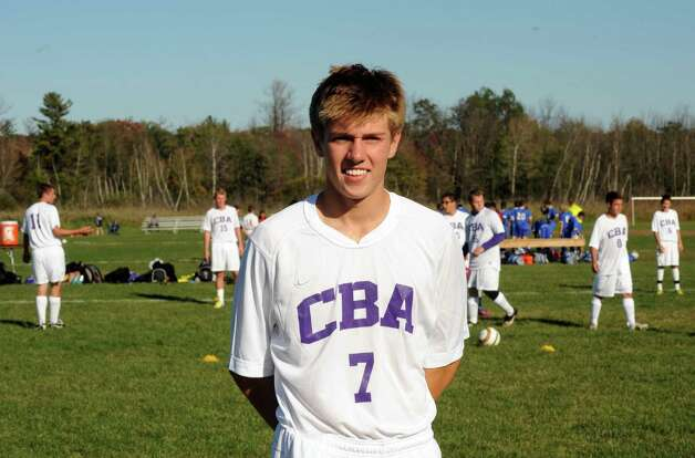 CBA's Forrest Scaringe during the Albany at CBA boys' varsity soccer game in Colonie, NY Tuesday Sept. 25, 2012. (Michael P. Farrell/Times Union) Photo: Michael P. Farrell