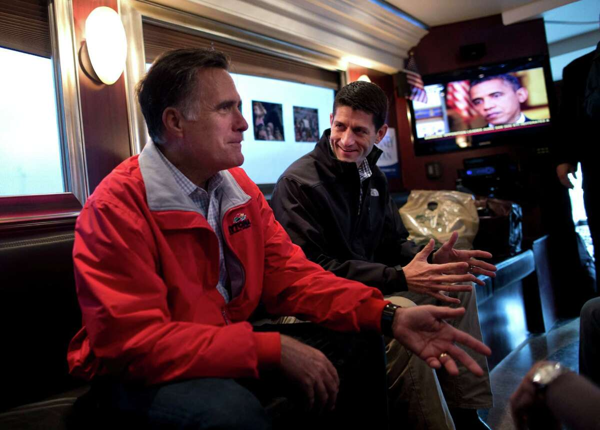 Before arriving in Houston on Tuesday, vice-presidential candidate Paul Ryan was in Vandalia, Ohio, wrapping up a three-day bus tour of the state with presidential candidate Mitt Romney.