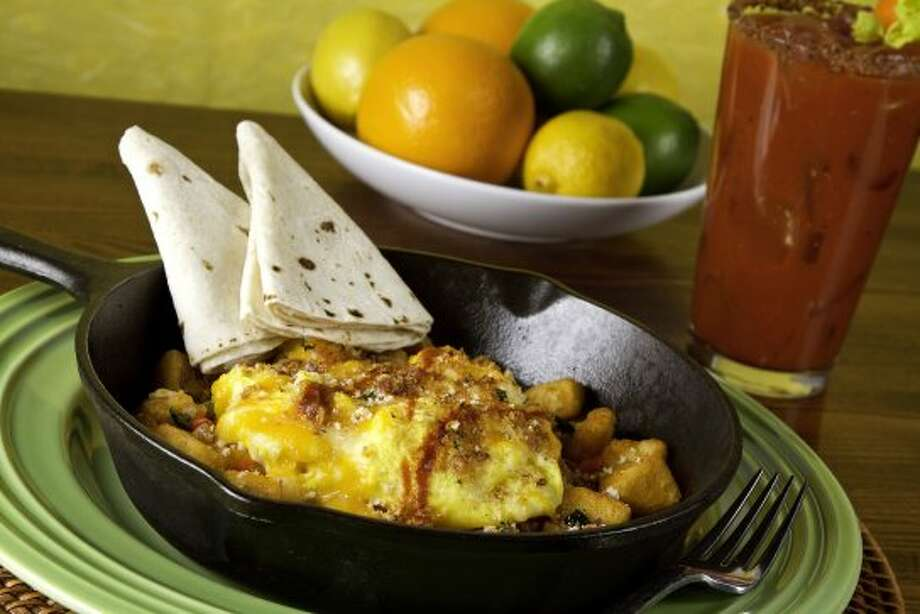 "Chorizo pork scramble skillet will be served at Z""Tejas Southwestern Grill, 15900 La Cantera Parkway, Suite 25100. It will open from 10 a.m. - 10 p.m. on Easter Sunday. (COURTESY PHOTO)"