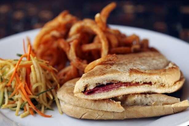 The Cuban Sandwich at Azuca Nuevo Latino Monday July 16, 2012. (San Antonio Express-News)