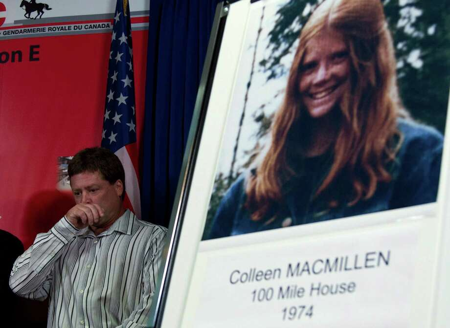 Shawn MacMillen, brother of murder victim Colleen MacMillen, attends a news conference in Surrey, British Columbia, Canada on Tuesday, Sept 25, 2012. Canadian police have linked a dead U.S. convict to one of 18 women who vanished along three highways in British Columbia over several decades, and authorities are investigating the man for possible links to five murders in the U.S. The Royal Canadian Mounted Police said Bobby Jack Fowler, who died in 2006, is a person of interest in 10 of the Canadian cases, and DNA has linked Fowler to the 1974 killing of teenage hitchhiker Colleen MacMillen. (AP Photo/The Canadian Press, Jonathan Hayward) Photo: Jonathan Hayward, Associated Press / The Canadian Press