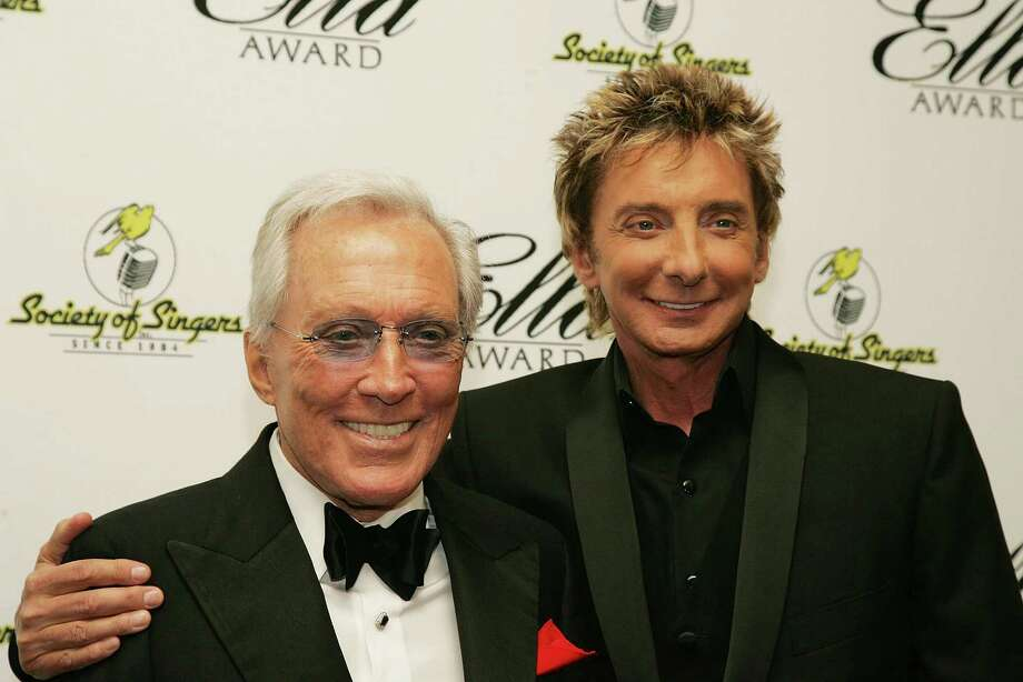 BEVERLY HILLS, CA - MAY 19:  Singers Andy Williams and Barry Manilow attend The Society of Singers 17th Annual ELLA Awards at the Beverly Hilton Hotel on May 19, 2008 in Beverly Hills, California. Photo: Neilson Barnard, Getty Images / 2008 Getty Images