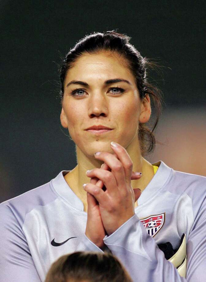 Goalkeeper Hope Solo of the USA looks on prior to their international friendly match against China at The Home Depot Center on December 13, 2008, in Carson, California. The USA defeated China 1-0. Photo: Victor Decolongon, Getty Images / 2008 Getty Images