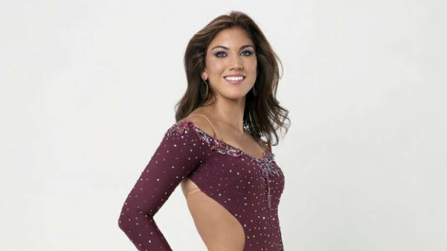 Hope Solo poses in a promotional photo for season 13 of Dancing with the Stars.