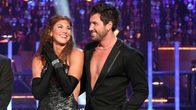 Hope Solo and Maksim Chmerkovskiy dance the cha-cha for Round 3 of Dancing with the Stars.