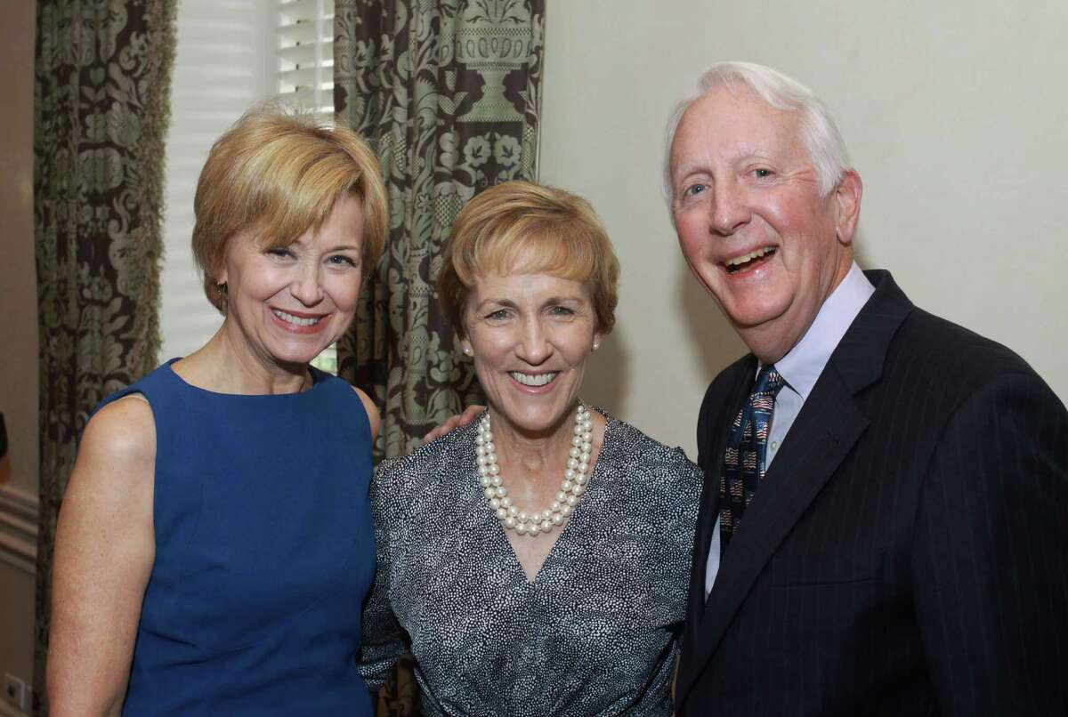 Jane Pauley, from left, with Jan and David Redford