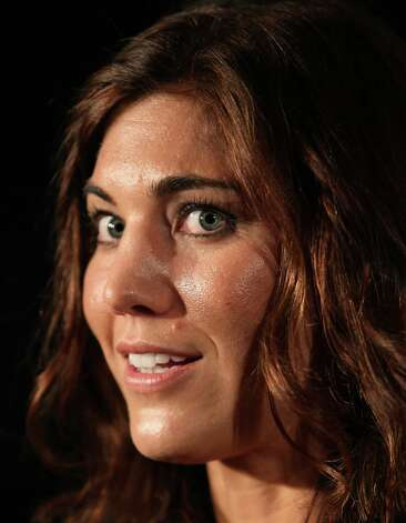 Soccer player Hope Solo attends the press room during the 2nd Annual Cartoon Network Hall of Game Awards at Barker Hangar on Feb.18, 2012, in Santa Monica, Calif. Photo: David Livingston, Getty Images / 2012 Getty Images