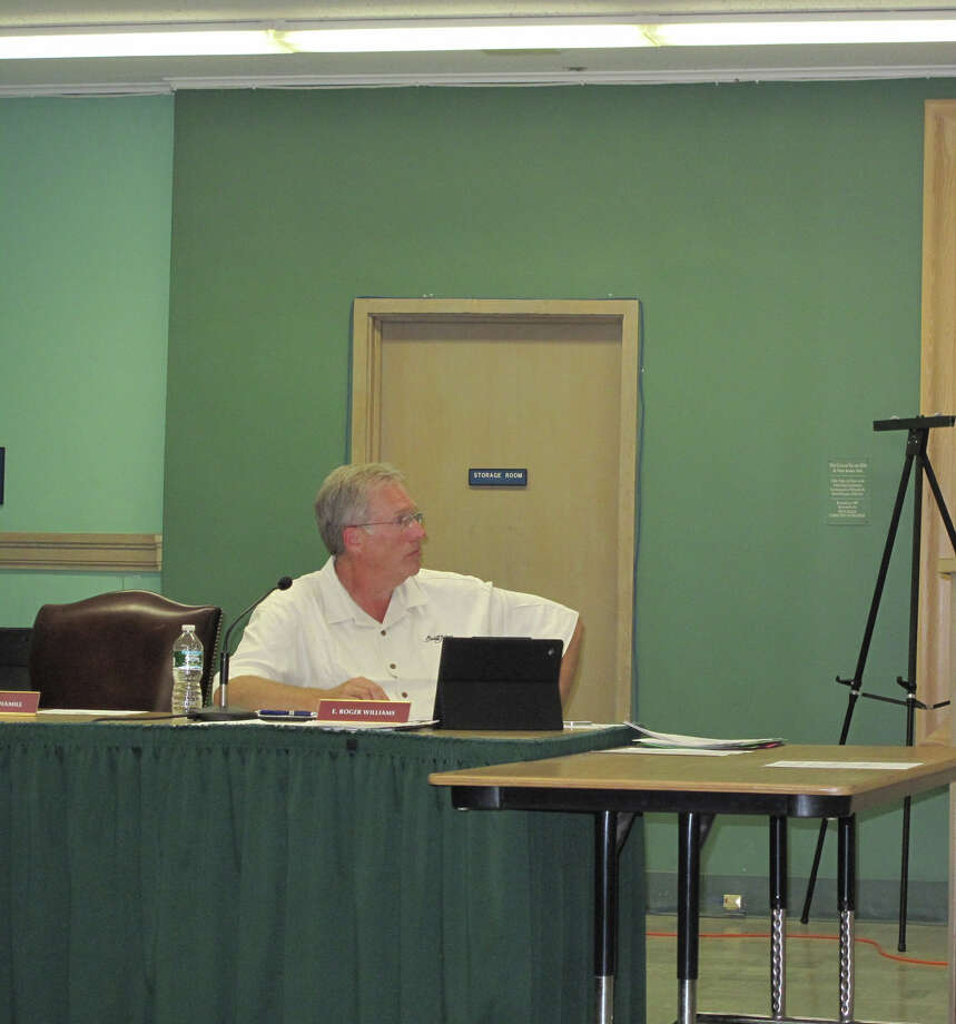 Roger Williams looks on at Sept. 19 Town Council meeting. 9/19/12. Photo: Tyler Woods