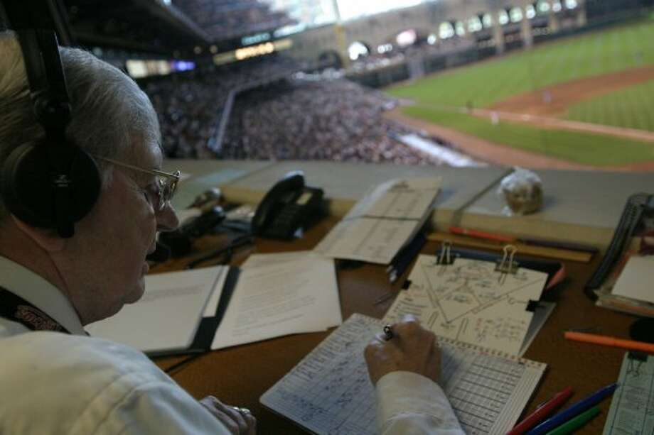 Hall of Famer Milo Hamilton was the Astros' lead radio play-by-play announcer on home games. (Meg Loucks / Houston Chronicle)