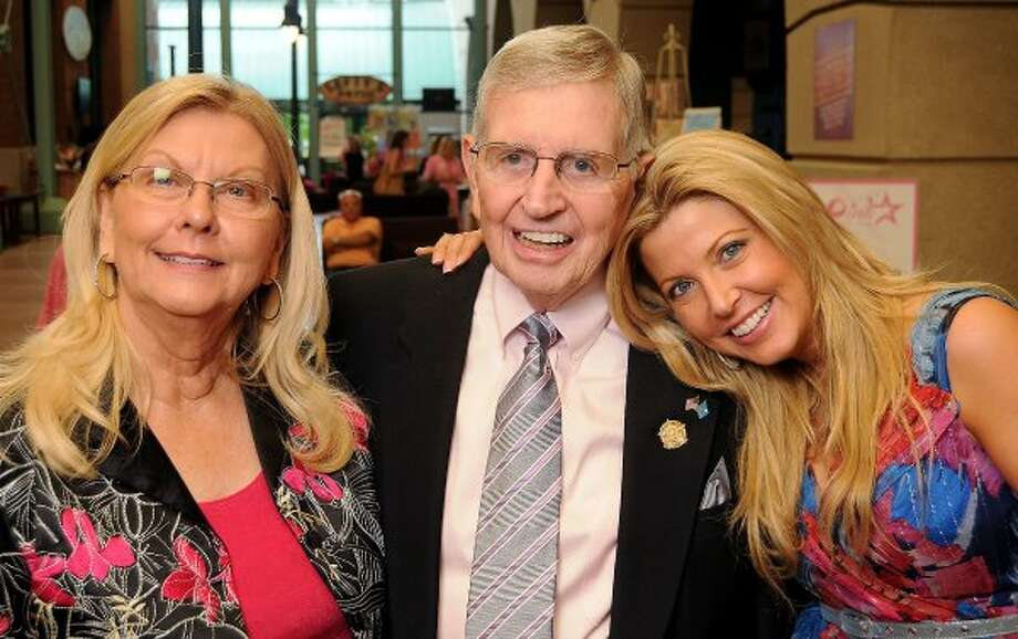 From left: Gloria Moore, Milo Hamilton and Pamela Michaels at the Pink in the Park Bazaar & Brunch fundraiser at Union Station at Minute Maid Park in 2010. (Dave Rossman / For the Chronicle)
