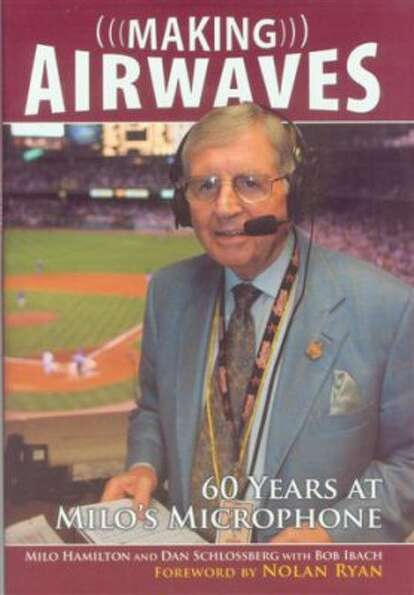 Cover of Astros announcer Milo Hamilton's memoir Making Airwaves. (Sports Publishing)