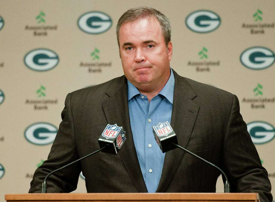 Green Bay Packers coach Mike McCarthy addresses reporters' questions about a controversial touchdown call on Monday Night Football during a press conference in Green Bay, Wis., on Tuesday, Sept. 25, 2012. (AP Photo/The Green Bay Press-Gazette, Lukas Keapproth) NO SALES Photo: Lukas Keapproth