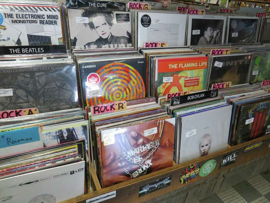 1824 N. Main Ave.: Find new releases on vinyl at Hogwild Records, which also sells turntables. Photo: Jennifer Rodriguez, For The Express-News